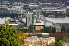 Tilikum Crossing over Willamette River Portland OR USA Stock Photos