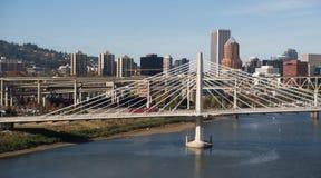Tilikum Crossing Portland Oregon New Bridge Construction Willamette River Royalty Free Stock Image