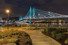 Tilikum Crossing by the Waterfront aty Night Stock Image