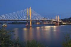 Tilikum die brug Portland Oregon kruisen Royalty-vrije Stock Foto