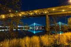 Tilikum korsning i Portland, Oregon royaltyfri fotografi