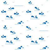 Tilind pattern background with sea waves Royalty Free Stock Photo