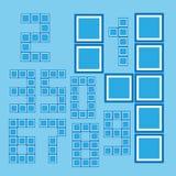 Tiling мозаики цифров Бесплатная Иллюстрация