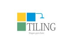 Tiling bathroom logo. A logo that can be used for a company that offers service of tiling bathrooms Royalty Free Stock Photo