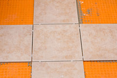 Tiling project Stock Photos