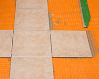 Tiling project Stock Image