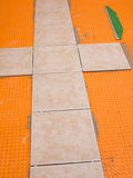 Tiling project Royalty Free Stock Image