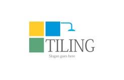 Tilingsbadezimmerlogo lizenzfreies stockfoto