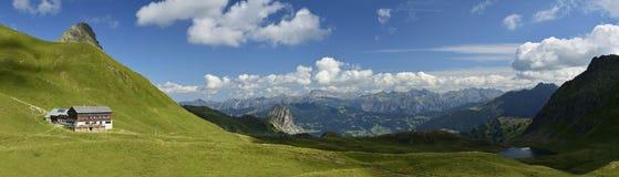 Tilisunahutte & Tilisunasee, Ratikon, Vorarlberg, Austria Immagini Stock