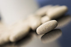 Tillägg, läkarbehandlingar eller vitaminer Arkivbild