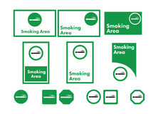 Tillåten vektorsymbolsuppsättning av att röka Royaltyfri Foto