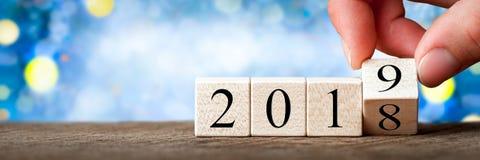 2018 till 2019 royaltyfri fotografi