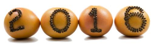 2016 till apelsiner royaltyfri fotografi
