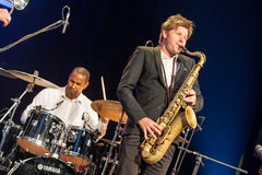 Till Bronner quintet at Kaunas Jazz 2015 Stock Photo