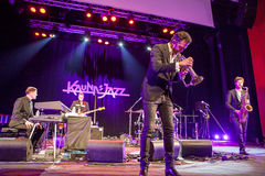 Till Bronner quintet at Kaunas Jazz 2015 Royalty Free Stock Photo
