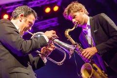 Till Bronner quintet at Kaunas Jazz 2015 Stock Image