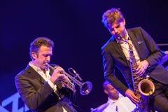 Till Bronner quintet at Kaunas Jazz 2015 Royalty Free Stock Photography