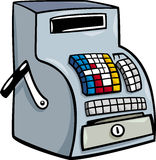 Till or cash register cartoon clip art Royalty Free Stock Image