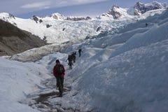 Till den Cerro Torre glaciären Patagonia, Argentina royaltyfri fotografi