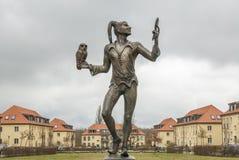 Till Eugenspiegel staty i Elstal Royaltyfri Bild