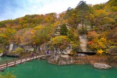 Till ingen Hetsuri Fukushima Japan Arkivfoto