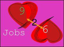 9 till 6 jobb för ny märkeslogo arkivfoto