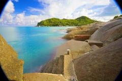 Till mötet de tropiska öarna av Thailand Royaltyfri Foto