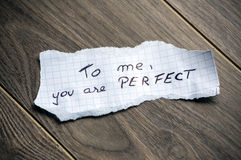 Till mig är du perfekt Arkivbilder