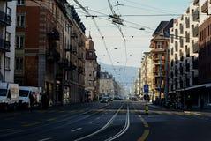 Till och med Zurich Fotografering för Bildbyråer