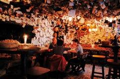 Till salu bar, Budapest, UNGERN arkivfoton