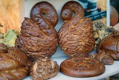 Till salu bröd och sötsaker Sabantui beröm i Moskva Arkivfoto