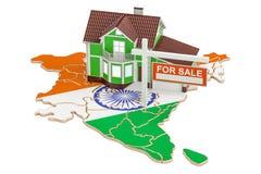 Till salu egenskap och hyra i det Indien begreppet Real Estate undertecknar, 3 Royaltyfri Bild