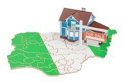 Till salu egenskap och hyra i det Nigeria begreppet Real Estate undertecknar, Arkivbilder