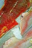 Till salu fiskfiléer Arkivbilder