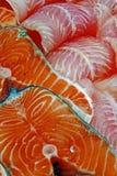 Till salu fiskfiléer Royaltyfri Bild