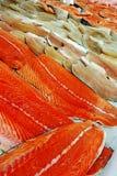 Till salu fiskfiléer Arkivfoto