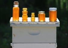 Till salu honung royaltyfria foton