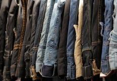 Till salu jeans Royaltyfri Bild