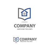 Till salu logo för idérik hem- lista vektor illustrationer