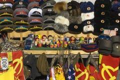 Till salu Memorablia av kommunism arkivfoto