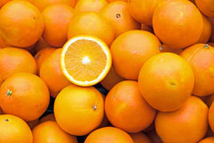 Till salu mogna apelsiner Arkivbilder