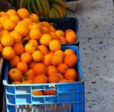 Till salu nya apelsiner Fotografering för Bildbyråer