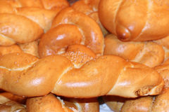 Till salu nytt bröd Royaltyfria Bilder