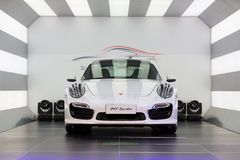 Till salu Porsche bil royaltyfri bild