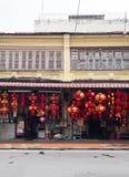 Till salu röda lyktor för traditionell kines royaltyfri bild