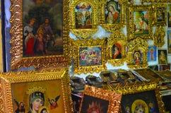 Till salu religiös målarfärg Royaltyfri Bild