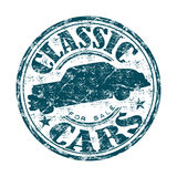 Till salu rubber stämpel för klassiska bilar Royaltyfria Foton
