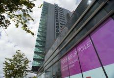 Till salu skyskrapa Royaltyfri Fotografi