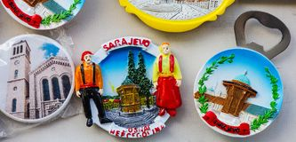 Till salu souvenir Fotografering för Bildbyråer