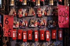 Till salu souvenir, London Arkivbilder